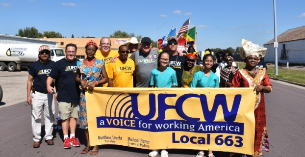 Local 663 at King Turkey Day Parade in Worthington, MN