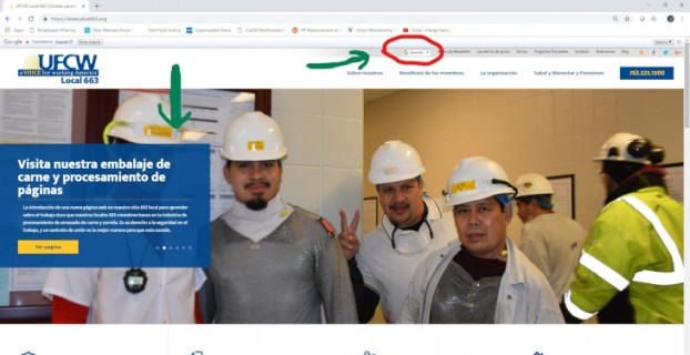 Google Translate on UFCW 663 website now available!